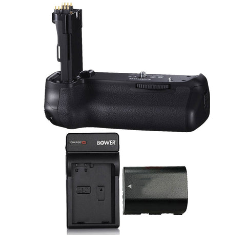 Vivitar Deluxe Power Grip with LP-E6 Battery and Charger for Canon EOS 80D DSLR Camera