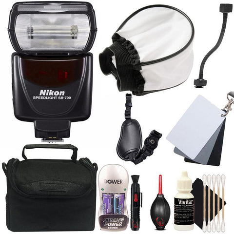 Nikon SB-700 AF Speedlight Hot Shoe Mount Flash for Nikon DSLR Cameras + Ted's Best Bundle