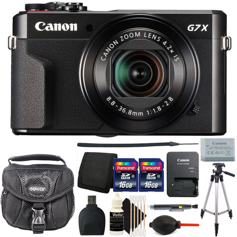 Canon PowerShot G7x Mark II 20.1MP Digital Camera 4.2x Optical Zoom with Accessory Kit