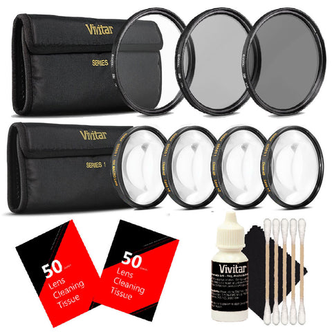 Vivitar 67mm Macro Close Up Kit with Deluxe Accessory Kit Kit for Canon 18-135, Nikon 18-140, and Nikon 18-105 Lenses