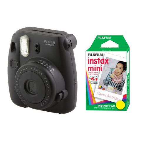 Fujifilm Instax Mini 8 Instant Camera Black Film Included