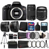 Canon EOS Rebel T6 18MP DSLR Camera with EF-S 18-55mm Lens and EF 75-300mm Lens + Filters and Lens Addition Bundle