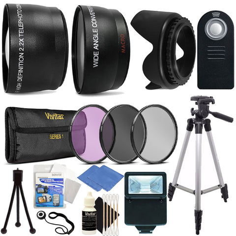 Canon T3i T5i T6i T5 T6 Digital SLR Ultimate Accessory Bundle for 58mm Camera/Lenses