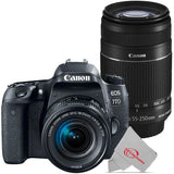 Canon EOS 77D 24.2MP Digital SLR Camera with 18-55mm and Canon 55-250 IS II Lens