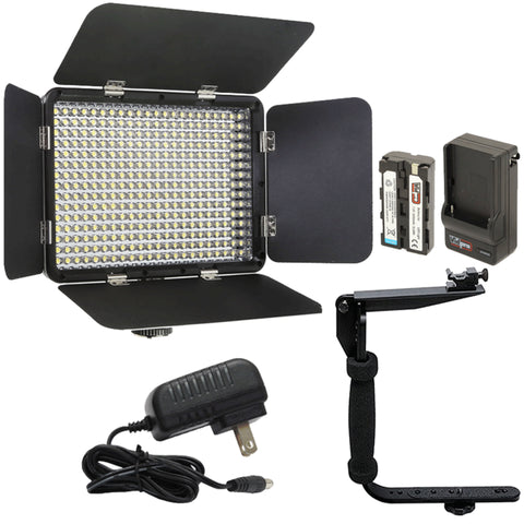 Vidpro LED-330X Varicolor Studio Video Lighting Kit with Barn Doors and Accessories