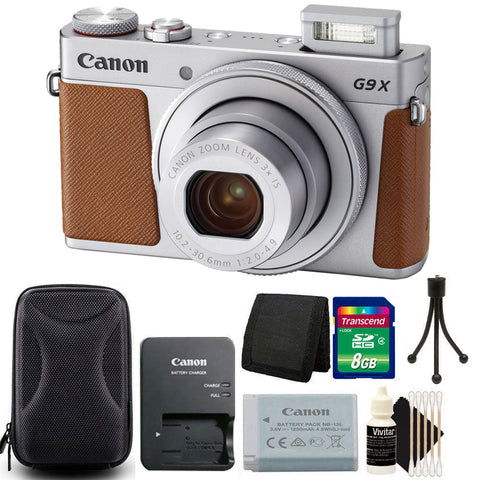 Canon Powershot G9 X Mark II 20.1MP 3x Optical Zoom Digital Camera Silver with Starter Bundle