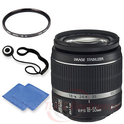 Canon EF-S 18-55mm STM Lens w/ 58mm UV Filter, Cap keeper & Microfiber Cloth