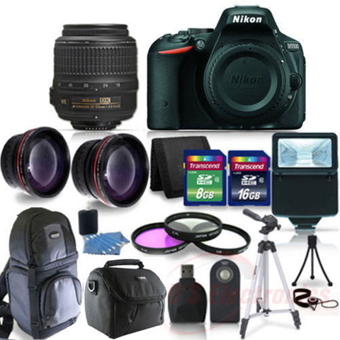 Nikon D5500 Digital SLR Camera With 18-55VR Lens and Accessory Kit