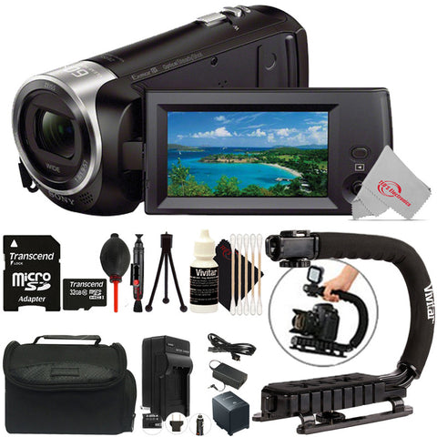 Sony HDR-CX405 HD Handycam Camcorder with Photo and Video Software Top Accessory Bundle
