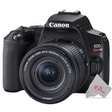 Canon EOS Rebel SL3 Built-in Wi-Fi DSLR Camera with Canon 18-55mm Lens Premium Kit - Black