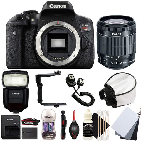 Canon EOS Rebel T6 DSLR Camera with 18-55mm IS STM Lens , 430EX lll Non RT Flash and Accessory Kit