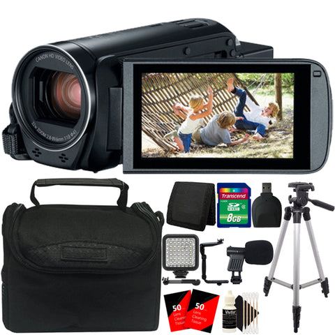 Canon Vixia HF R800 Full HD Camcorder with Ultimate Accessory Bundle