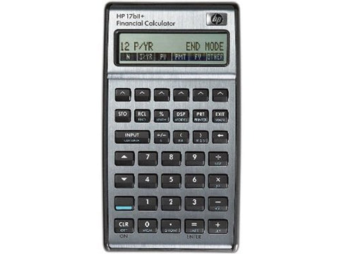 HP 17BII+ Financial Calculator, Silver
