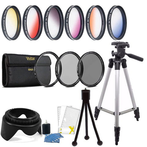 58mm Color Filters with Accessory Kit For Canon 70D , 77D , 80D , 760D and 1300D