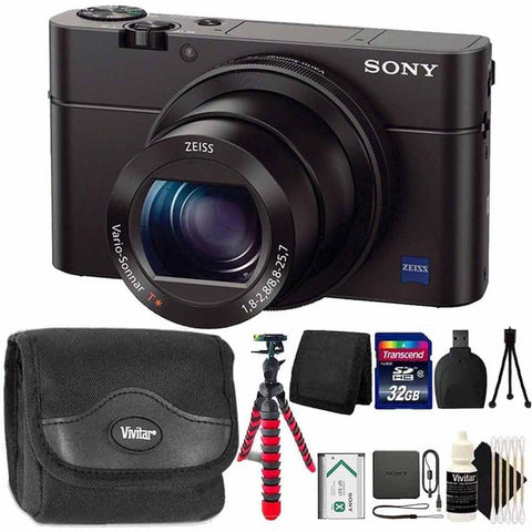 Sony Cyber-shot DSC-RX100 III Built-In Wi-Fi Digital Camera with Standard All You Need Accessories