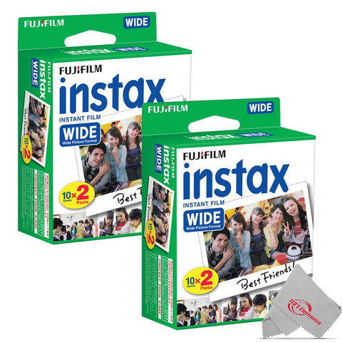 FUJIFILM INSTAX Wide Instant Film (20 Exposures) 2 Pack