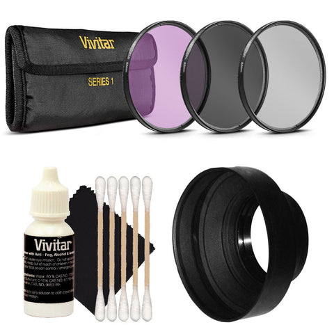 Viviar 3pc Filter Kit 58mm UV/CPL/FDL with 58mm Top Accessory Kit Canon EOS T6i T7i 77D 80D