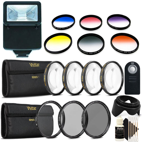 52mm Color Filter Kit with Accessories for Nikon D5600 , D7100 and D7200