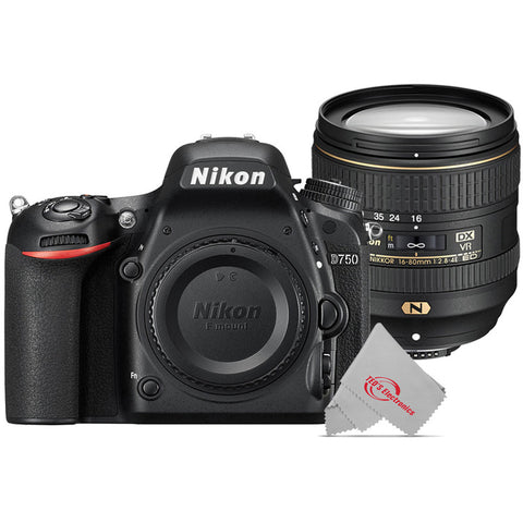 Nikon D750 24.3MP Digital SLR Camera with Nikon AF-S DX NIKKOR 16-80mm f/2.8-4E ED VR Lens