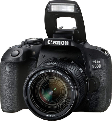 Canon EOS Rebel 800D / T7i 24.2MP CMOS Wifi Digic 7  Digital SLR with 18-55 IS STM Lens Black