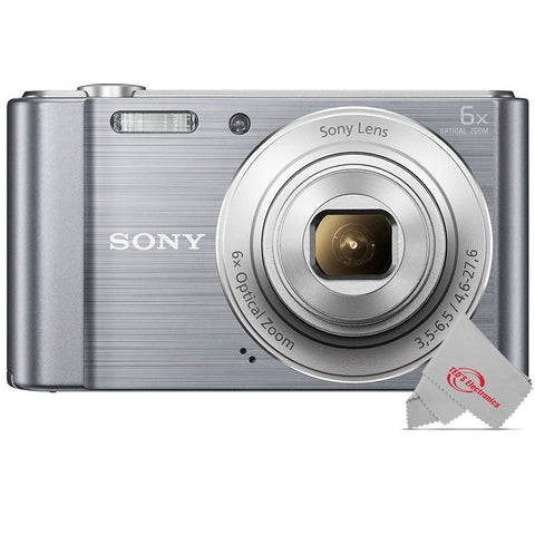 Sony Cyber-shot DSC-W810 20.1MP 12x Digital Zoom Digital Camera - Silver
