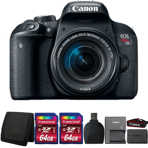 Canon EOS Rebel T7i Digital SLR Camera with 18-55mm Lens and Accessory Kit