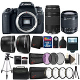 Canon EOS Rebel 77D 24.2MP Built-In WIFI D-SLR Camera 18-55mm Lens IS STM and 75-300mm Lens 32GB Accessory Kit