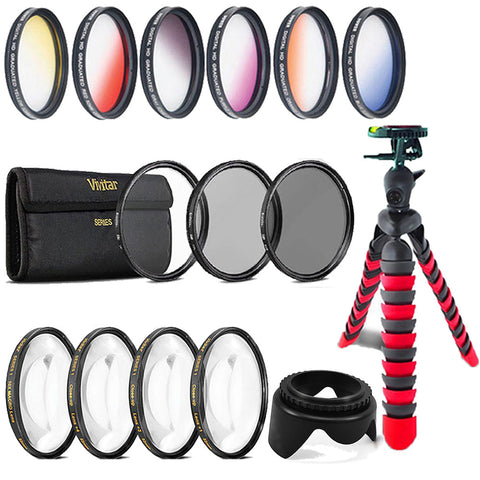 58mm Color Filters with Accessory Bundle For Canon 70D , 77D , 80D , 760D and 1300D