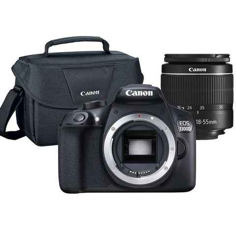 Canon EOS 1300D 18MP Built-In WIFI DSLR Camera with 18-55mm Lens + Canon 100ES Case