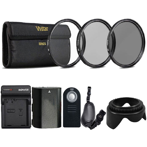 58mm UV CPL ND Kit, Replacement LP-E6 Battery and More Accessories for Canon DSLR Cameras