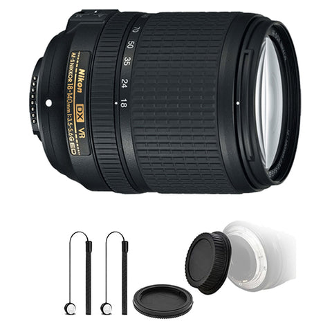 Nikon AF-S DX NIKKOR 18-140mm f/3.5-5.6G ED VR Lens with Top Accessory Kit For Nikon DSLR Cameras