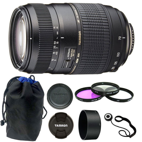 Tamron Zoom Telephoto AF 70-300mm f/4-5.6 Di LD Macro Autofocus Lens with Accessory Bundle for Canon