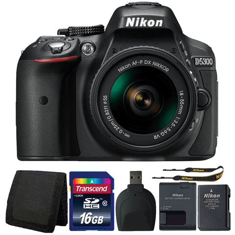 Nikon D5300 24.2MP Digital SLR Camera with 18-55mm Lens and Accessory Kit