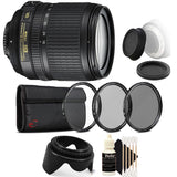 Nikon AF-S DX NIKKOR 18-105mm f/3.5-5.6G ED VR Lens with Accessory Bundle For Nikon D5300 , D5600 , D7100 and D7200