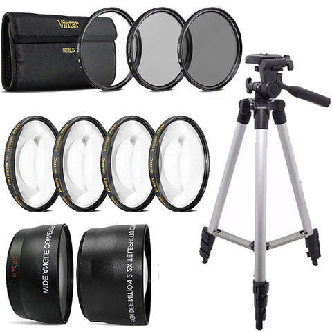 58mm Fisheye Wide Angle and Telephoto Lens Accessory Bundle for Canon DSLR Cameras