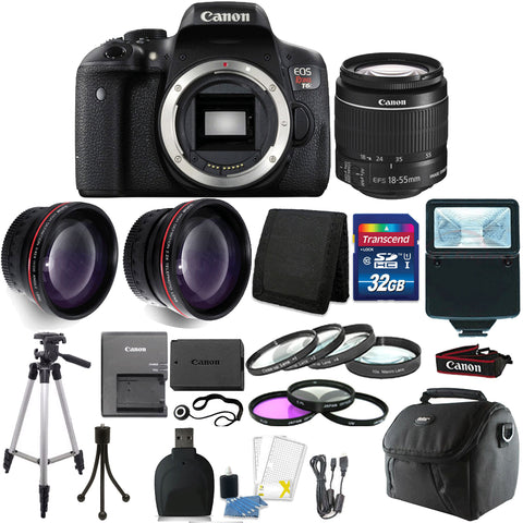 Canon EOS Rebel T6 DSLR Camera with 18-55mm Lens and Accessory Bundle