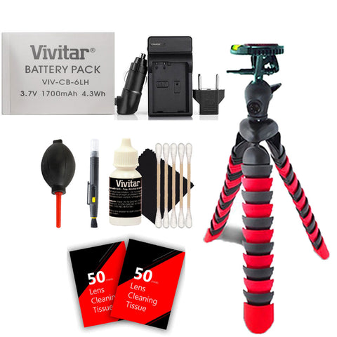 Vivitar NB-6L / NB-6LH Battery with Charger and Accessories for select powershot cameras