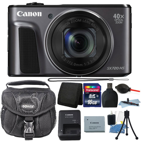 Canon PowerShot SX720 HS 20.3MP Digital Camera with 16GB Deluxe Accessory Kit