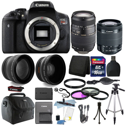Canon EOS Rebel T6 18MP DSLR Camera with 18-55mm IS STM Lens , 70-300mm Lens and Ultimate Accessory Kit
