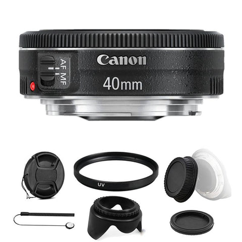 Canon EF 40mm f/2.8 STM Lens with Accessory Kit For Canon EOS Rebel T5 , T5i , T6 , T6i and T7i