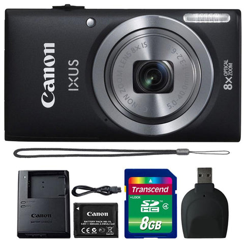 Canon IXUS 185 / ELPH 180 20MP Digital Camera Black with Accessory Kit
