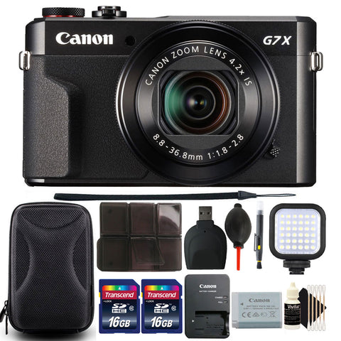 Canon PowerShot G7x Mark II 20.1MP Digital Camera 4.2x Optical Zoom with 32GB Accessory Kit