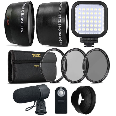 58mm Fisheye Wide Angle Lens, Telephoto Lens and Accessory Kit for Canon 750D and 760D