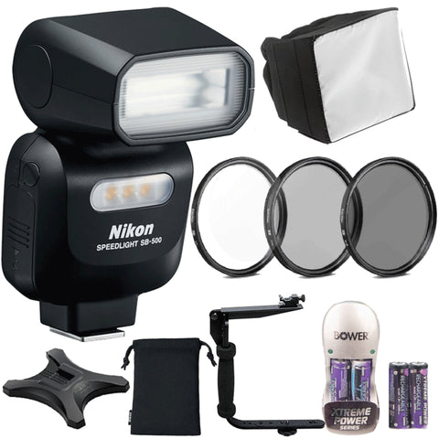 Nikon SB-500 AF Speedlight with Accessories for Nikon D5300, D5500 and D5600