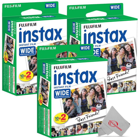 FUJIFILM INSTAX Wide Instant Film (20 Exposures) 3 Pack