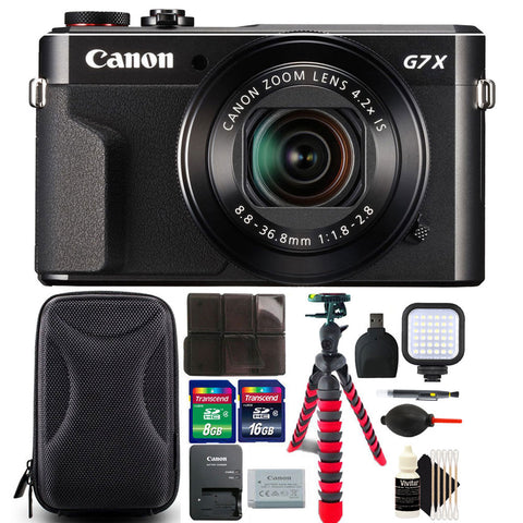 Canon PowerShot G7x Mark II 20.1MP Digital Camera 4.2x Optical Zoom with 24GB Accessory Bundle