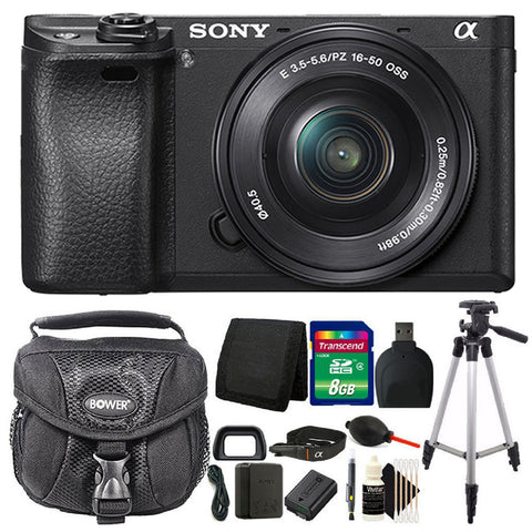 Sony Alpha a6300 Mirrorless Digital Camera with 16-50mm Lens Package