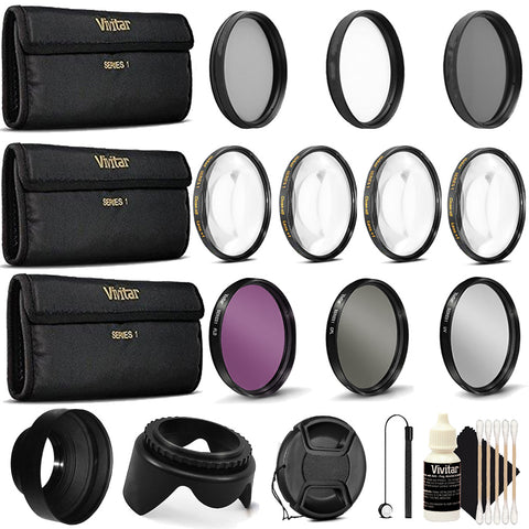 52mm Close Up Macro Filters with Accessories for Nikon D3300, D5300, D5500, D7100 and D7200