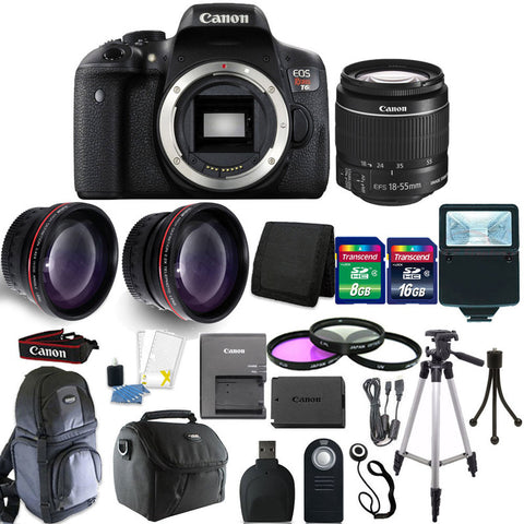 Canon EOS Rebel T6 DSLR Camera with 18-55mm Lens and 14 Piece Accessory Kit