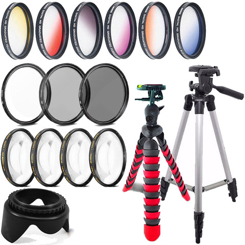58mm Color Filters with Accessories For Canon T5 , T5i , T6 ,T6i and T7i